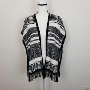 Arizona Womans Aztec Blanket Cardigan Sweater NWT